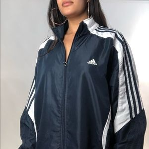 ADIDAS JACKET Size LARGE 🖤 Can be worn as a dress